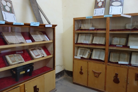 Just some of the books at the Harar National Museum.