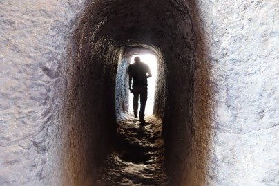 A tunnel between Bet Medhane Alem and Bet Maryam.