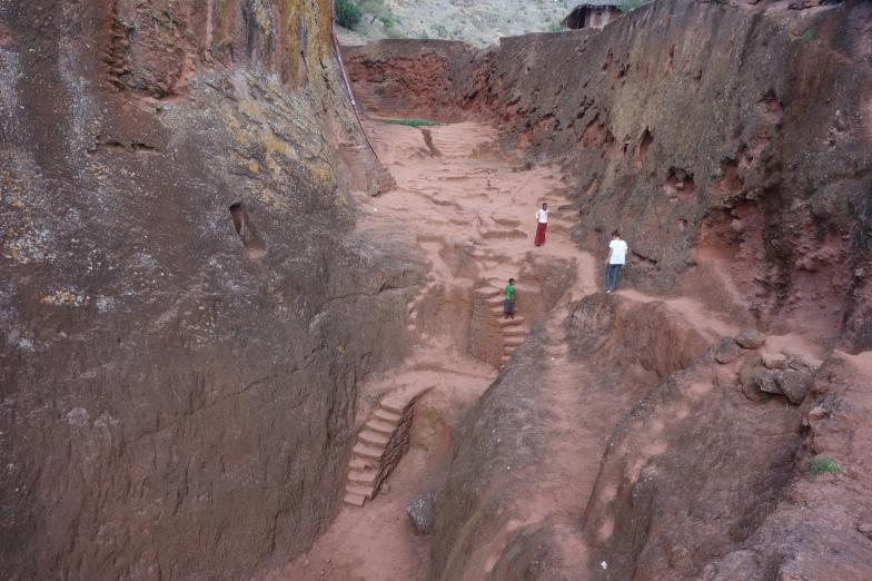 Steps near Bet Abba Libanos.