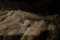 Mummified pilgrims at Yemrehanna Kristos.