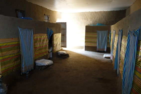 The rooms inside the nursing home are more or less booths made of mud, but they provide independence and dignity not offered elsewhere.