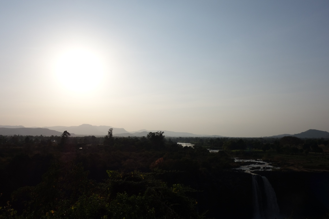 blue-nile-falls-sunset