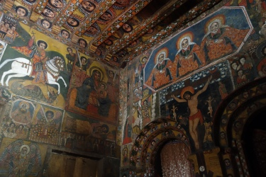 Paintings inside Debre Birhan Selassie.