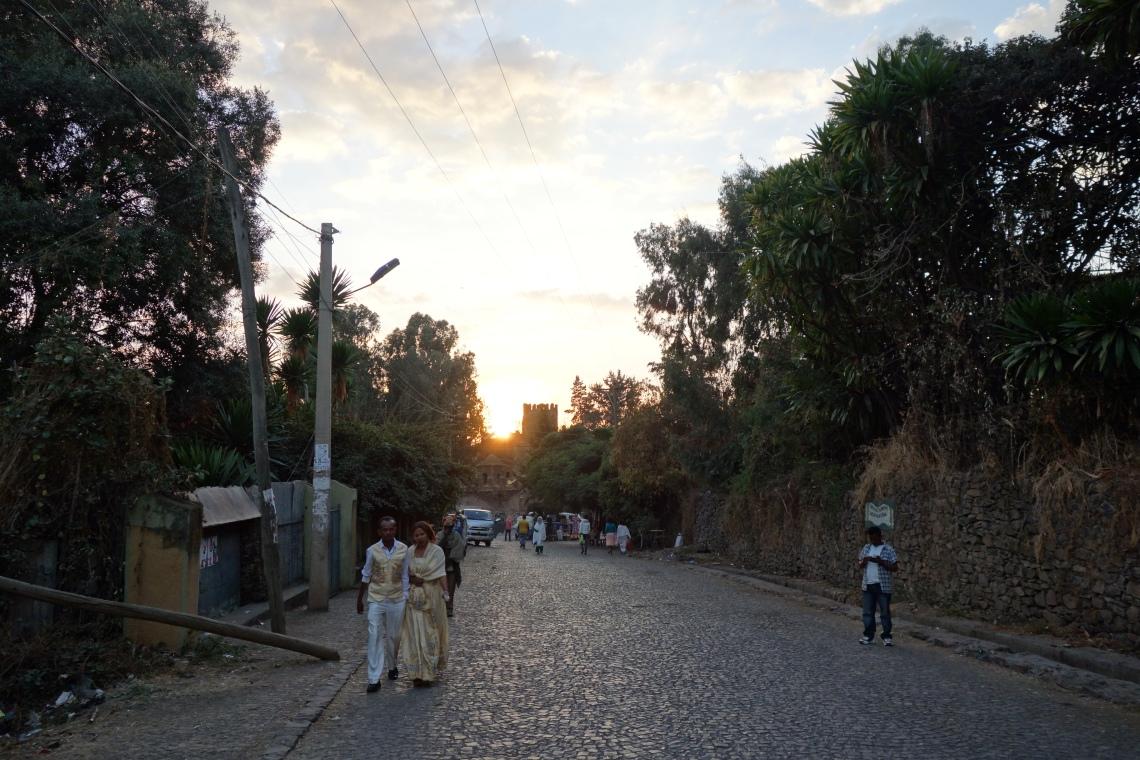 gondar-castle-sunset