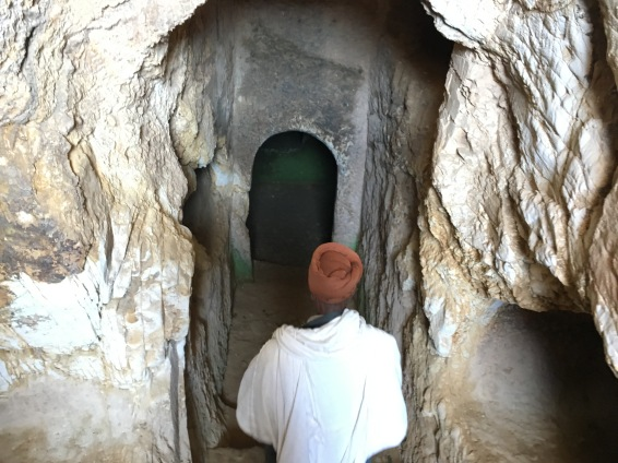 Like most of the tombs in Axum, the entrence is a deep stairwell.