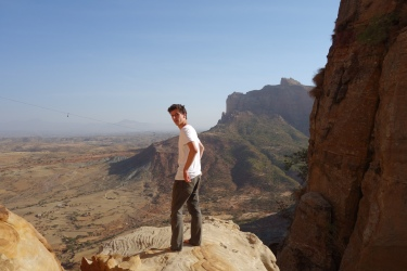 The deacon took some ~candid~ shots of me as we climbed the 200m high cliffs..