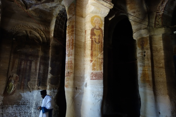 Maryam Korkor is one of the larger Tigray churches, featuring many pillars carved out of the rock.