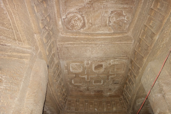 Medhane Alem Adi Kasho has ntricate ceiling carvings instead of colourful frescos.