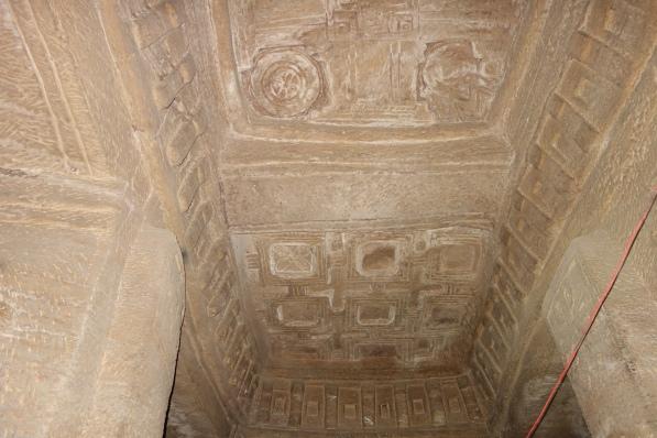 Medhane Alem Adi Kasho has ntricate ceiling carvings instead of colourful frescos.