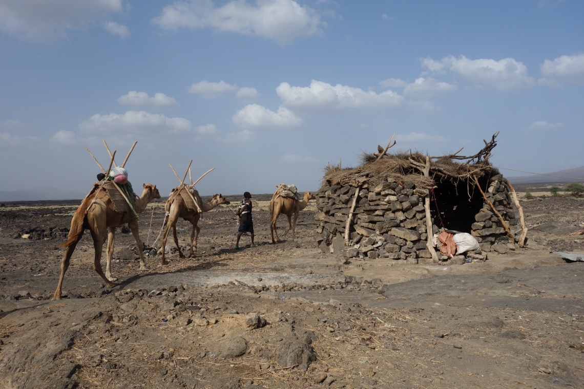 afar region hut ethiopia