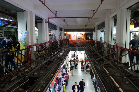 The mezzanine level of Chungking Mansions.