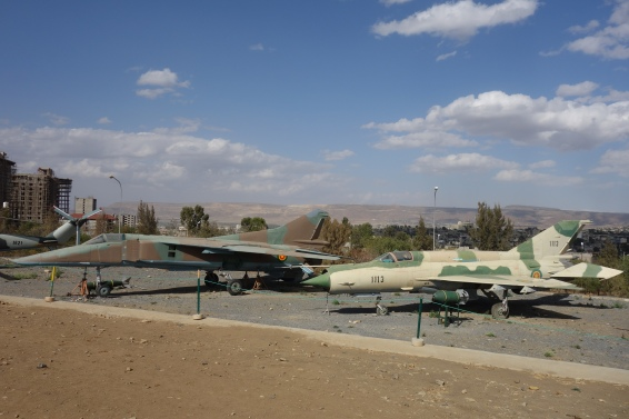 Dilapidated figher jets at the TPLF Martyrs' Memorial were actually pretty intersting.