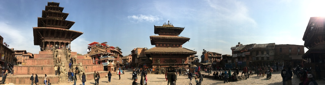 bhaktapur square panorama kathmandu nepal travel blog (1)