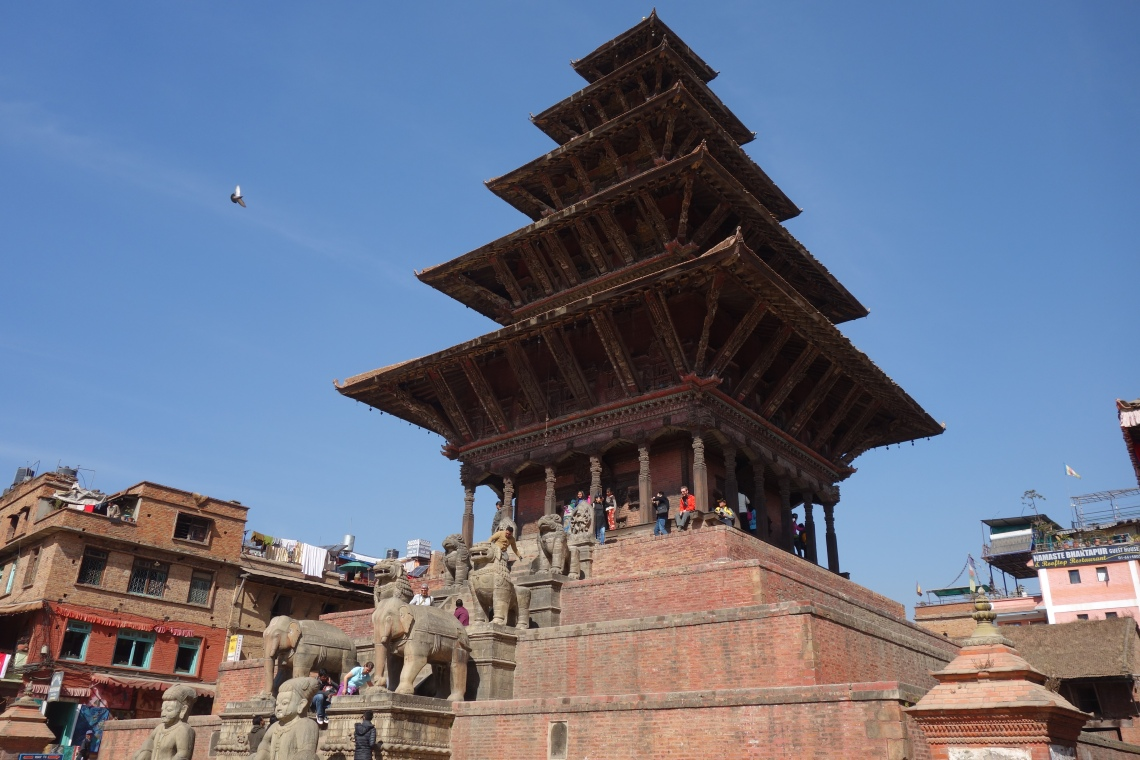 nyatapola temple bhaktapur nepal travel blog
