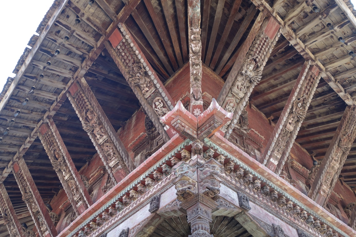 nyatapola temple woodwork bhaktapur travel blog