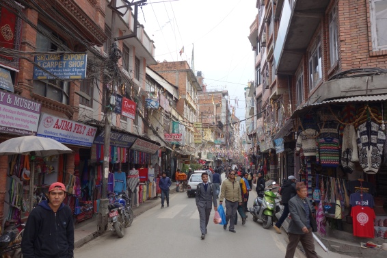 Thamel is lined with every kind of shop a tourist might need.