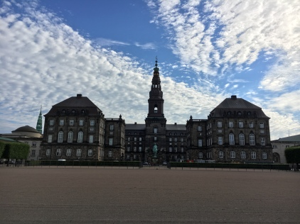 Christiansborg Palace, home to the Danish parliament, prime minister's office, supreme court, and sometimes used by the royal family too.