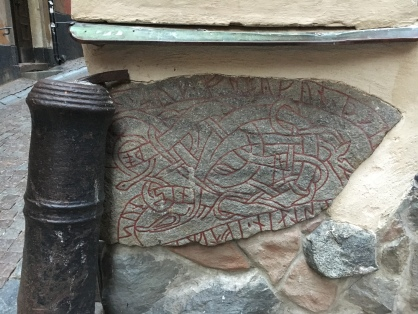 Uppland Runic Inscription 53, a Nordic runestone which had been used as construction material in the old town.