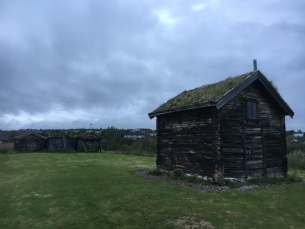 Traditional Sami houses in Guovdageaidnu.