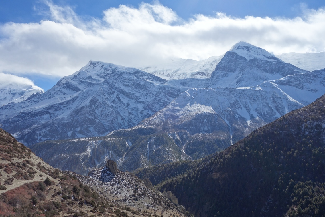 mountains nepal annapurna circuit himalayas snow winter (3)
