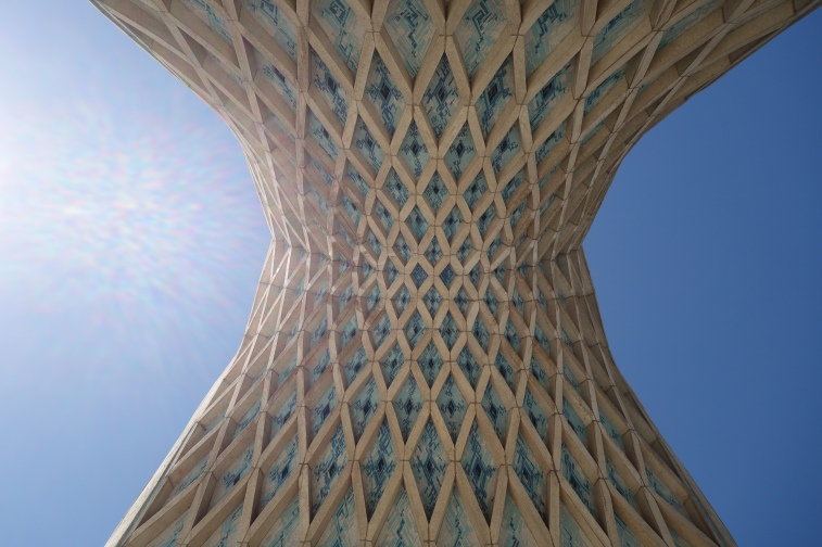 The Azadi Tower is stunning from every angle. I found myself staring at it for ages, and walked away with a sore neck from looking up so much.