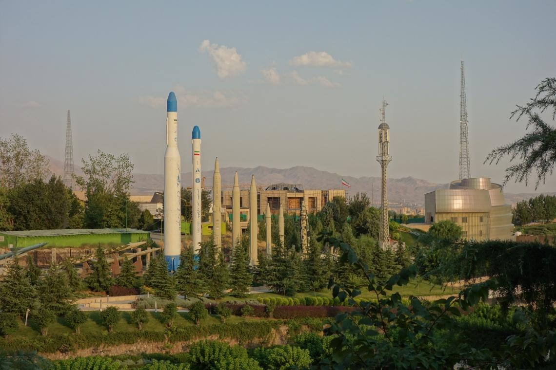 iran iranian missiles tehran park
