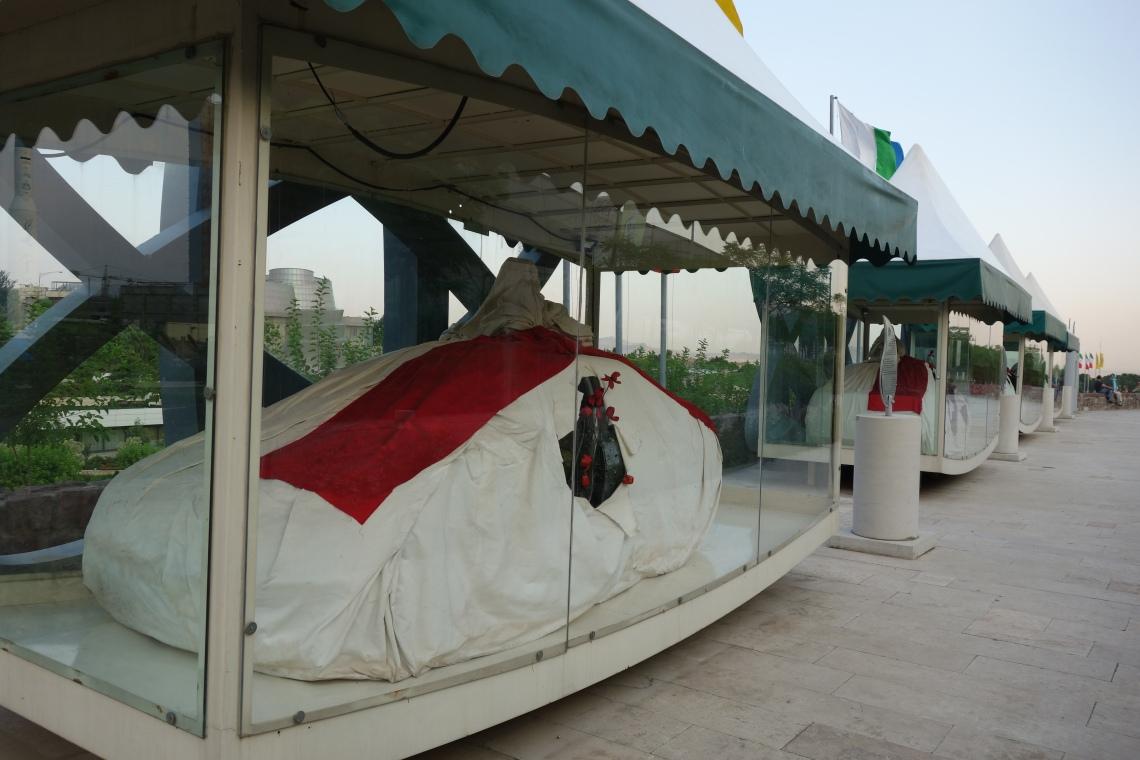 nuclear martyrs cars iran tehran memorial