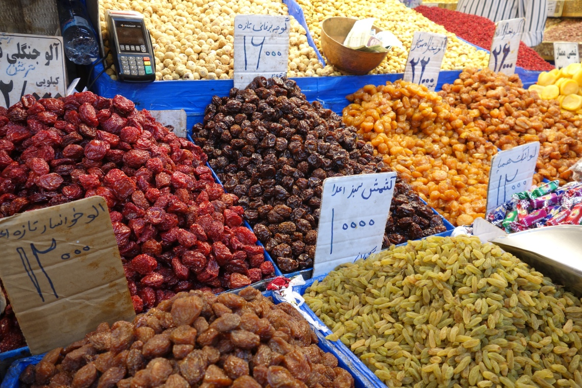 tehran grand bazaar fruits travel blog iran
