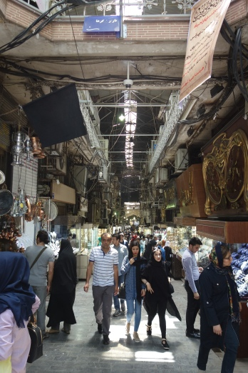 Inside Tehran's Grand Bazaar.