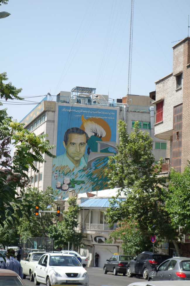 Mural of Iran's martyrs watch over almost every street and intersection. It's a fascinating display of reverence and politics in one.
