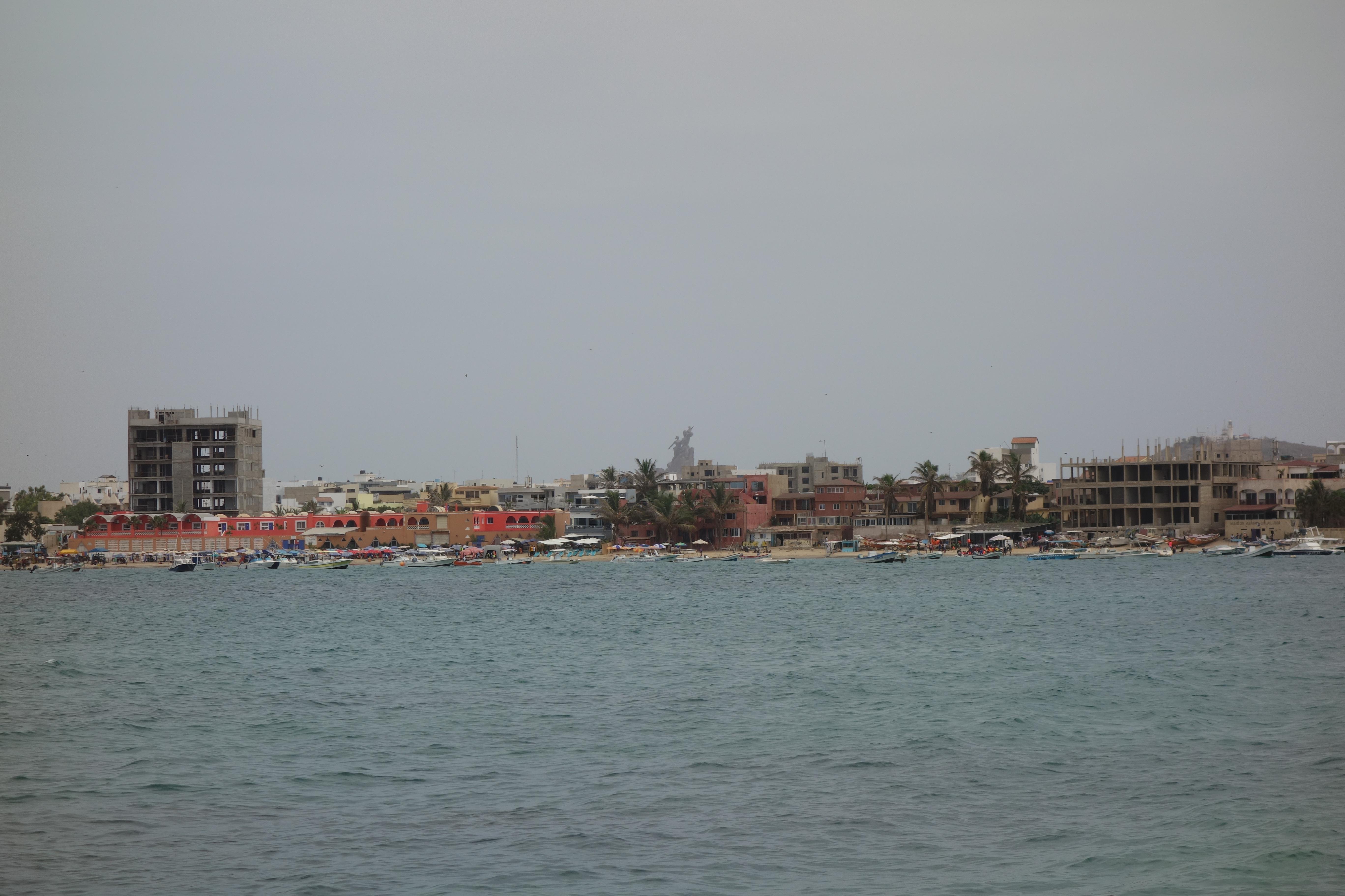 african renaissance monument monument de la renaissance africaine dakar senegal skyline coast