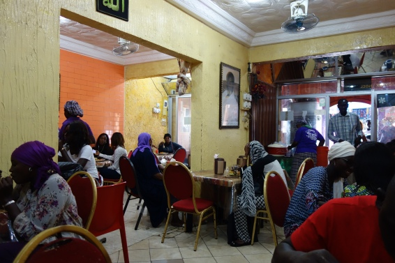 Keur Khady Restaurant, busy for lunch.
