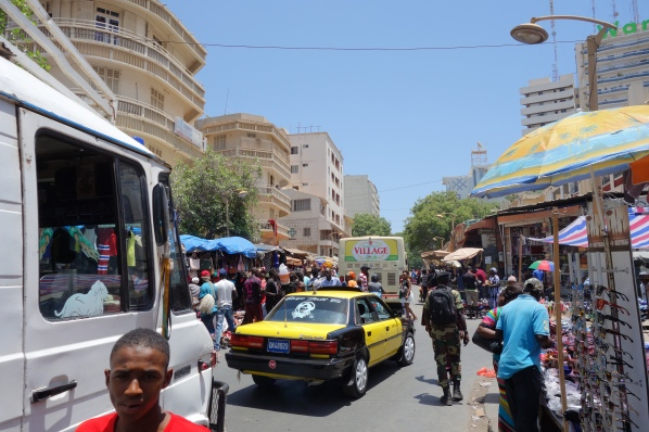 The Sandaga market.