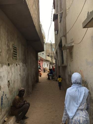 The sandy laneways of Ngor.
