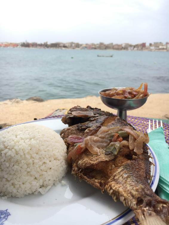 Yassa poisson on the Ile de Ngor.