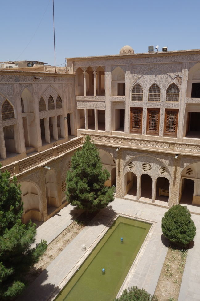 The subterranian courtyard of the Abbasian historical house.