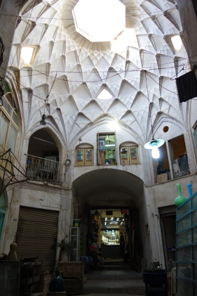 interior dome bazaar kashan travel blog iran (1)