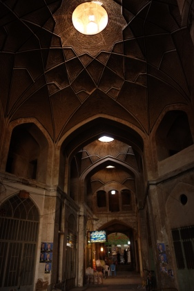 interior dome bazaar kashan travel blog iran (2)