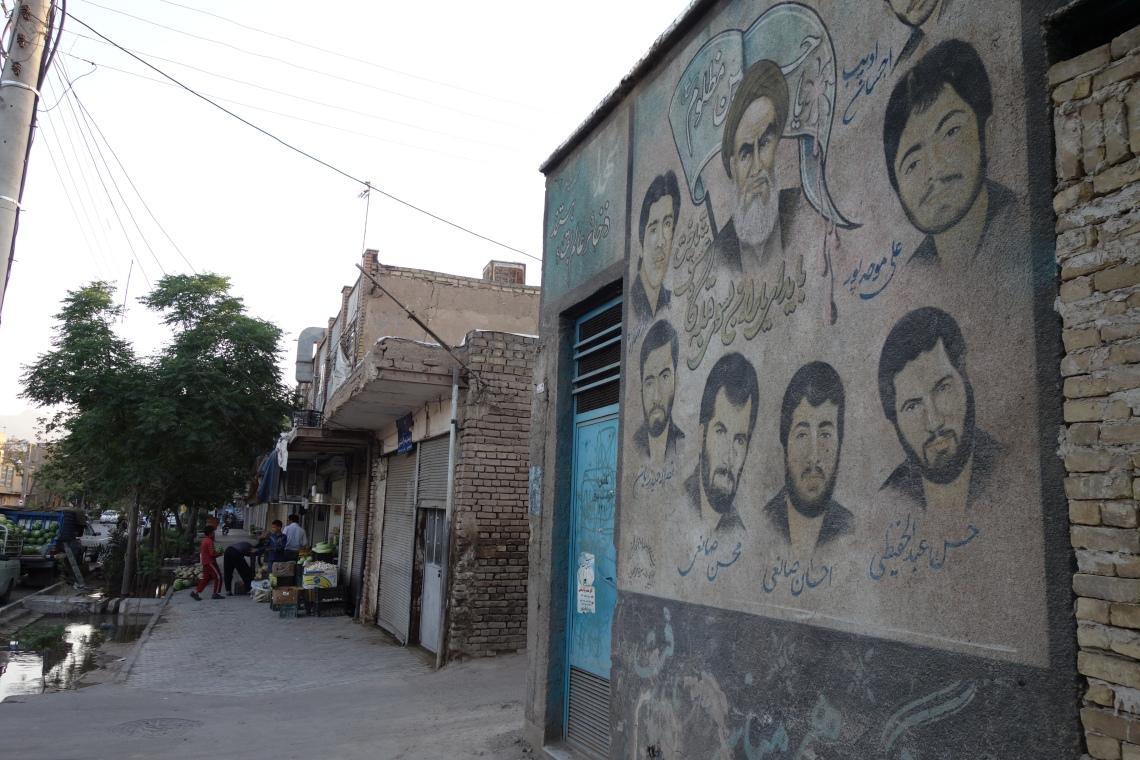 martyrs mural kashan iran