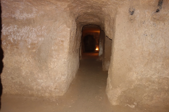 The hallways of the Nushabad underground city.
