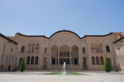 Courtyard of the Tabatabaei historical house.